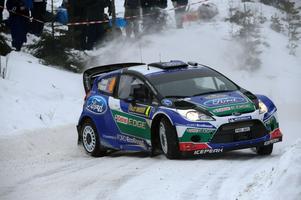 Det blir ingen rallyfest på Lugnet i Falun i samband med SM-veckan i januari. Här syns Petter Solberg på Sågen-sträckan i Vansbro under Svenska rallyt 2012.