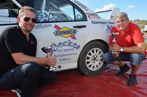 Patrik Åkerman/Lasse Grip segrade i fyrhjulsdrivna klassen i Rally Norduppland.