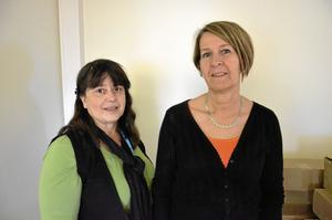 Har nöjd personal. Enhetscheferna för hemtjänsten, Beatrice Fagerdal och Lena Bergh, har bara hört gott om flytten från personalen.