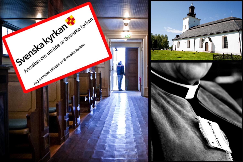 Rekordmanga lamnar svenska kyrkan
