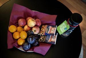 Scandic City. Färsk frukt på rummet.