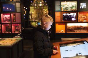 För Herman Västerlund från Stockholm var det första rundturen vid gruvan.