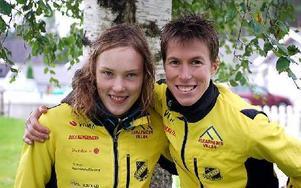 GULDPAR. Emma Claesson vann D21 och Tove Alexandersson, D18 tog SM-guld.FOTO: STORA TUNA OK