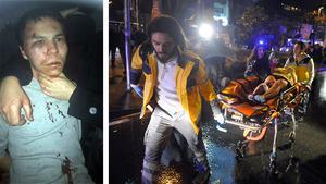 En blåslagen man visades upp av den turkiska polisen. Masharipov  misstänks för terrordådet på nyårsnatten som krävde 39 människors liv.