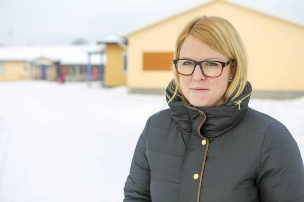 Carolina Fredin är talesperson för föräldragruppen som jobbar med skolans framtid i Vemdalen.