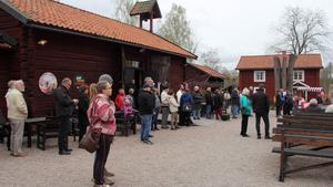 I Fagersta uppmärksammades första maj traditionsenligt vid Västanfors hembygdsgård av Socialdemokraterna.