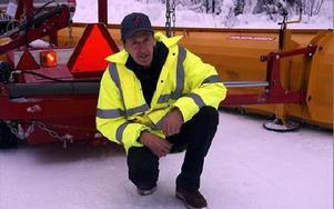 Göran Gustafsson är Björbos egen uppfinnar-Jocke. -- Jag har tillverkat en miljövänlig snöplog. FOTO: ANGELICA LINDVALL