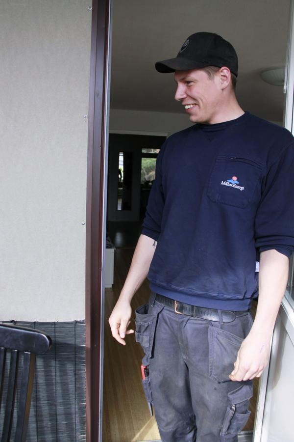 Balkongvinnaren Martin Eriksson får se sin nya balkong.