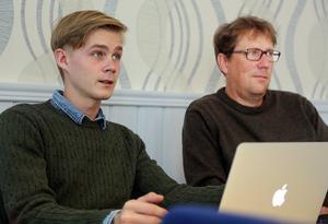 Victor Ericsson (M) och Anders Häggkvist (C), kommunalråd i Härjedalen