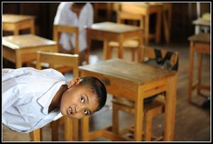 Linslus på en thailändsk skola.