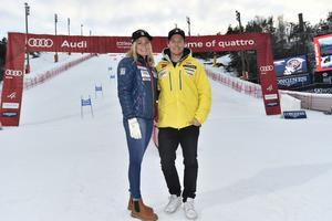 Frida Hansdotter och Mattias Hargin inför tisdagens världscup i Stockholm.