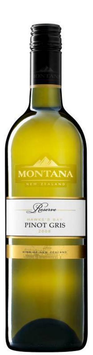 Montana Reserve Pinot Gris är ett enkelt och bra vin, gärna till lax.