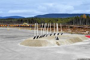10 oktober 2017 togs de första spadtaget för Sälens flygplats.