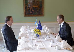 Har statsminister Stefan Löfvén och Europeiska rådets ordförande Donald Tusk kommit förbi kallpratsstadiet? Man får hoppas det.