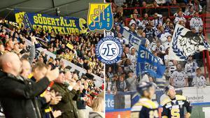 Två stora supporterskaror förgyllde matchen i Scaniarinken på onsdagskvällen.