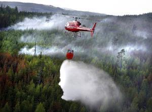 Hasselabranden rasade under elva dagar i början av juni 2008. Som mest deltog sju helikoptrar i vattenbombningarna. Rök spreds så långt som till Gävle.