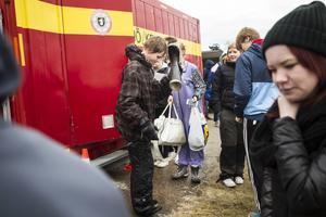 Joakim Jörgensen fick vatten i stöveln efter hans andra dopp för dagen.