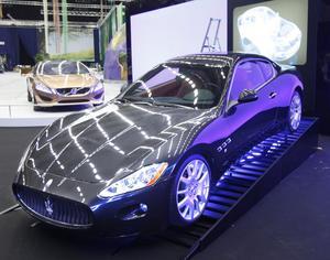 En Maserati Gran Turismo illustrerar Sandviks betydelse för bilindustrin.