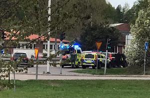 Polisinsats i de västra delarna av Västerås efter kidnappningsdramat.