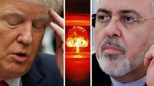 USA:s president Donald Trump och Irans utrikesminister Javad Zarif bråkar på Twitter.