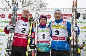 Herrpallen med norske Håvard Solås Taugböl som vinnare före Karl-Johan Westberg och Teodor Peterson.