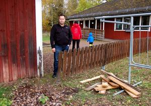 Håkan Sparr vid Våmilis staket.
