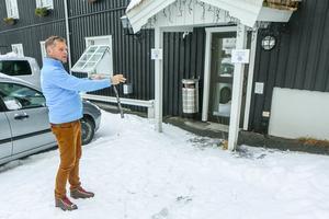 Här blir det en ny ingång till Funäsdalens hotell där gästerna komm in på samma plan som restaurangen. Idag ligger matsalen en trappa ner.
