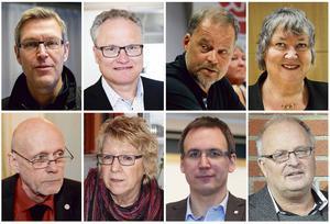 Erik Lövgren, Glenn Nordlund, Jan Sahlén, Elisabeth Lassen, Fred Nilsson, Ewa Lindstrand, Peder Björk och Sten-Ove Danielsson.