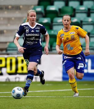 Jenny Hjohlman var första halvleks första spelare. Även om hon föll tillbaka lite i andra halvlek gjorde hon en riktigt bra match.