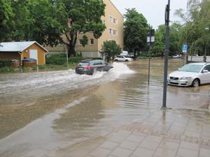 Vid Bergmästaregatan i Falun.