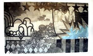 Ett halvårs jobb? Teckning på Konstcentrum, av Jenny Granlund.
