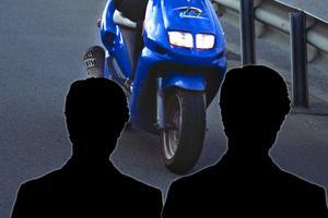 De båda männen är misstänkta för stöld och häleri. Bilden är ett montage av genrebilder.