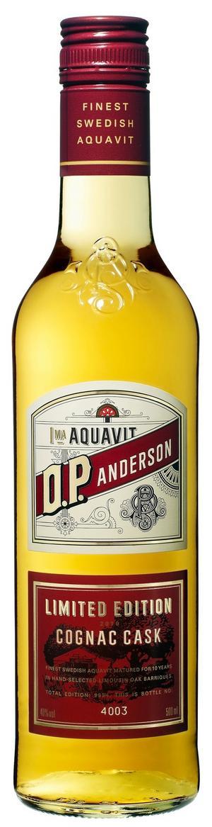 Även i år lanseras en delikat lyxvariant av välkända O.P. Andersson som lagrats i tio år på konjaksfat. Knappt 10 000 numrerade flaskor finns att tillgå.