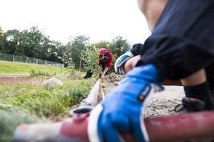 Basebollanläggningen på Kubenplan håller just nu på att byggas om. Där görs det plats för den nya träningsanläggningen som ska byggas.