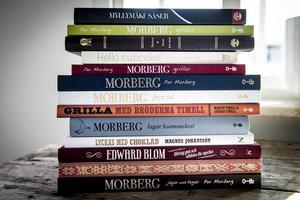 Böcker för inspiration. En mix av Morberg, Blom, Lindholm med flera kända kockar.