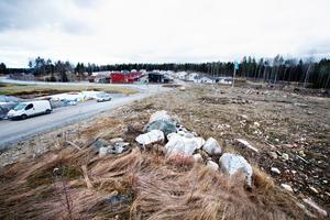 Här ska det planerade boendet i Björkmossen byggas..