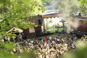 Närheten till naturen var viktigt även för den nya festivalen. Bilden är från Gagnef-festivalen. Fotograf: Per Bifrost