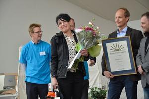 Allanna Malmborg, en god och glad mottagare av utmärkelsen Årets företagare 2012.