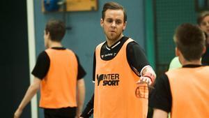 Fredrik Åhlberg tränade med Per-Ols under måndagskvällen.
