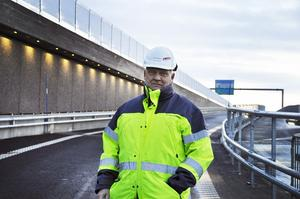 Björn Sjölund från Trafikverket är den som släpper på trafiken på torsdagen.