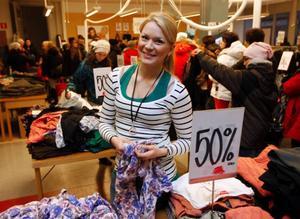 """""""Det har varit ett härlig kaos och en varm stämning ända sedan vi öppnade i morse"""", sa Madelene Borg från Östersund."""