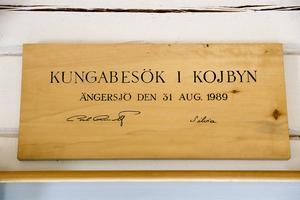 Kungen och drottning Silvia fanns på plats när skogsmuseet invigdes.
