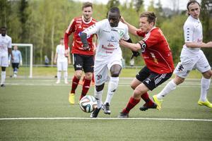 Musa Dibba var som vanligt aktiv från sin kant och blev till slut målskytt i matchen.
