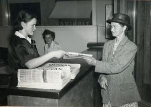 Mimmi From hade ett ärende till tidningen Ljusnan.