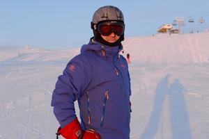 Peter Wibjörk, Karlshamn njöt när solen går upp över Idre Fjäll.