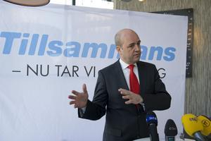 Vill vara landsfader. Statsministern och partiledaren Fredrik Reinfeldt vill fortsätta att förnya och bredda Moderaternas politik.foto: scanpix