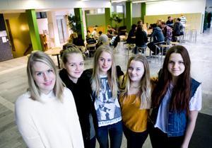 Nanny Gillström, Elin Härling, Fredrika Norén, Hanna Bergdahl och Lovisa Swärdh vill att vi ska tänka mer på vad vi äter.