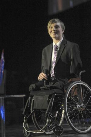 Christoffer Linde fick Sportspegelns pris på idrottsgalan 2009 i Globen Arena i Stockholm på måndagskvällen.