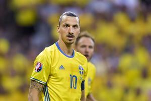 Zlatan Ibrahimovic i matchen mellan Sverige och Belgien.