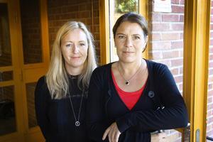 Rektor Liw Tegelström och biträdande rektor Cecilia Eriksson.